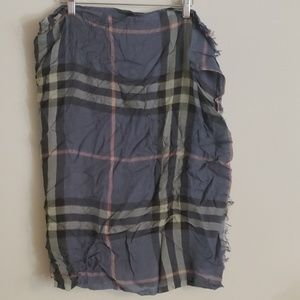 Burberry Plaid Scarf Authentic